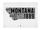 Montana Watercolor Word Cloud