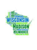 Wisconsin Word Cloud Map