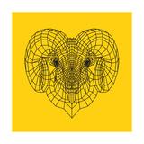 Ram Head Yellow Mesh