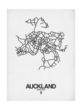 Auckland Street Map White