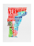Vermont Watercolor Word Cloud