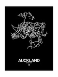 Auckland Street Map Black