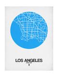 Los Angeles Street Map Blue