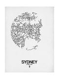 Sydney Street Map White