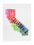 California Watercolor Word Cloud