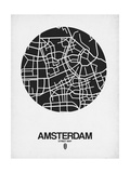 Amsterdam Street Map Black and White