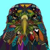 American Eagle Blue Reproduction d'art par Sharon Turner