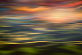 Rolling Hills at Sunset Copy Reproduction d'art par Ursula Abresch