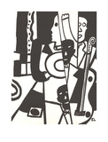 Jazz Reproduction d'art par Fernand Leger