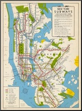 1949  New York Subway Map  New York  United States