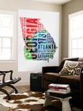 Georgia Watercolor Word Cloud