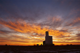 The Sunsets Behind a Grain Elevator