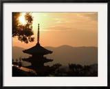 Sunset  Yasaka No to Pagoda  Kyoto City  Honshu  Japan