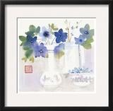 Blue Flowers in Vases