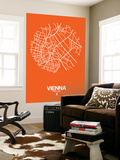 Vienna Street Map Orange