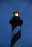 The Cape Hatteras Light Pierces the Night Sky with a Beam