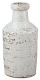 Rustic White Milk Bottle