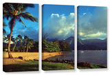 Golden Light On Hanalei  3 Piece Gallery-Wrapped Canvas Set