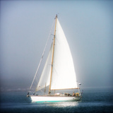 Sailboat into the mist
