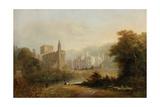Brinkburn Grange and the Ruins of Brinkburn Priory  1834