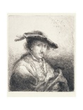 Young Man Wearing a Plumed Hat  1642