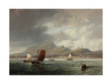Leith and Edinburgh from the Firth of Forth  1847