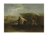 The Fishing Party - a Party of Gentlemen Fishing from a Punt  1794