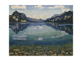 Thunersee with Reflection; Thunersee Mit Grundspiegelung  1904