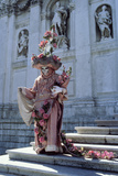 Carnival Figure on the Steps of Santa Maria Della Salute  Venice