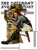 """Law Student"" Saturday Evening Post Cover  February 19 1927"