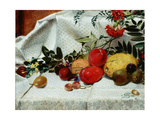 Study of Flowers and Fruit  1860