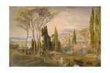 View from the Villa D'Este at Tivoli  1839