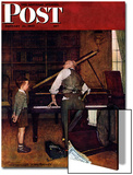 """Piano Tuner"" Saturday Evening Post Cover  January 11 1947"