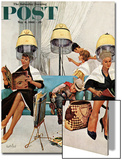 """Cowboy Asleep in Beauty Salon "" Saturday Evening Post Cover  May 6  1961"