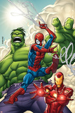 Marvel Adventures Super Heroes No1 Cover: Spider-Man  Iron Man and Hulk