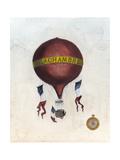 Vintage Hot Air Balloons III Reproduction d'art par Naomi McCavitt