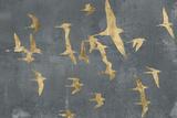 Silhouettes in Flight IV Reproduction d'art par Jennifer Goldberger
