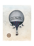 Vintage Hot Air Balloons II Reproduction d'art par Naomi McCavitt