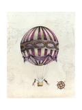 Vintage Hot Air Balloons I Reproduction d'art par Naomi McCavitt