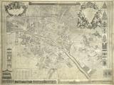 Nouveau Plan de Paris, 1728 Giclée par J. Delagrive