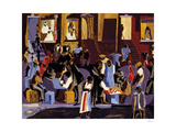 Street Shadows, 1959 Reproduction d'art par Jacob Lawrence