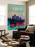 Detroit Watercolor Skyline