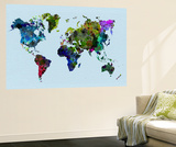 World Watercolor Map 3