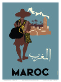 Maroc (Morocco) - Native Moroccan approaches town