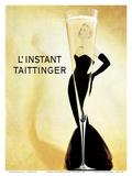 L'Instant Taittinger (The Taittinger Moment) - Champagne Advertisement - Grace Kelly Reproduction d'art par Claude Taittinger