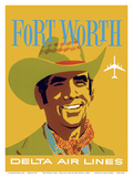 Fort Worth  Texas - Cowboy - Delta Air Lines