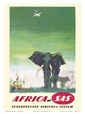 Africa - Elephants - by SAS Scandinavian Airlines System
