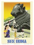 Mysore - See India - Sitting Nandi Bull Statue