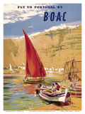 Fly to Portugal - by BOAC (British Overseas Airways Corporation)