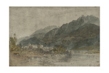 St Gothard and Mont Blanc Sketchbook [Finberg LXXV]  Bonneville and the River Arve